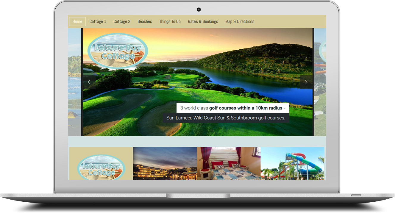 Joomla website design for a BNB in Port Edward